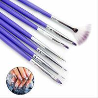 7tlg Nagel Pinsel Set Nail Art Stift Painting Brushes Pen Dotting Gelpinsel N0N0