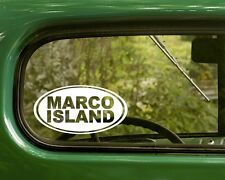 2 MARCO ISLAND DECALs Florida Oval Sticker for Car Window Bumper Rv Jeep Laptop