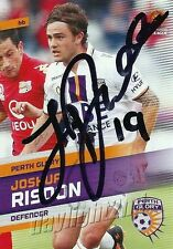✺Signed✺ 2013 2014 PERTH GLORY A-League Card JOSHUA RISDON