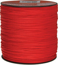 Parachute Cord Micro Cord Red 1.18mm x 1,000 ft. Braided premium nylon sport and