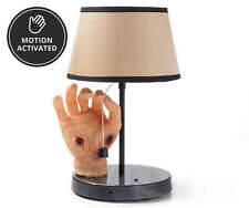 ANIMATED CREEPY ZOMBIE BLOODY HAND LAMP Prop Midnight Manor haunted