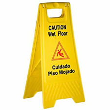 Better Brush Products Wet Floor Sign,Bright Yellow, Plastic