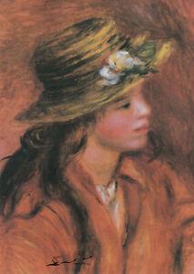 Postkarte: August Renoir - Das Mädchen mit dem Hut