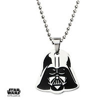 OFFICIAL STAR WARS DARTH VADER MASK CUT OUT PENDANT ON CHAIN NECKLACE (NEW)
