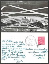 1954 Indiana Military Postcard - Air Field and Barracks Real Photo