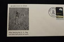 SPACE COVER 1969 HAND CANCEL APOLLO 11 LIFT OFF MOON & RENDEZVOUS WITH CSM (313)