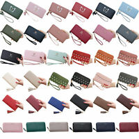 Womens Lady Zipper-Around Long Purses Wallets Money Card Holders Pouch Handbags