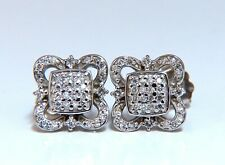 .40ct Cluster Squared Iconic Statement Earrings 14 Karat