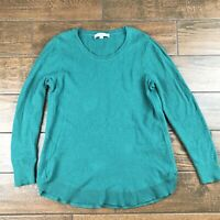 Ann Taylor Loft WOMENS LARGE Green Scoop Neck Sweater