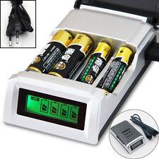 LED Display Intelligent Li-ion/NiMH 18650/26650/AA/AAA Batterie Ladegerät EU