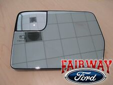 11 thru 14 F-150 OEM Ford LEFT DRIVER Heated Mirror Glass Only for Power Fold