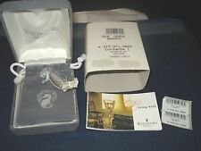 Vintage Waterford Crystal Seahorse Pendant Brooch w/Box and Papers Ireland New!