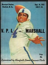 VIRGINIA TECH VS. MARSHALL-1953-ncaa-COLLEGE FOOTBALL PROGRAM
