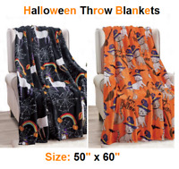 "Soft Plush Warm All Season Halloween Throw Blankets - 50"" X 60"" - Great Gift !!!"
