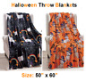 "Soft Plush Warm All Season Halloween Throw Blankets - 50"" X 60"" - Great Gift !!!"