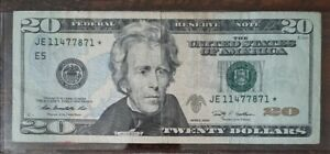 2009 $20 Dollar Bill *Star*Note* U.S Federal Reserve Note.  FREE SHIPPING