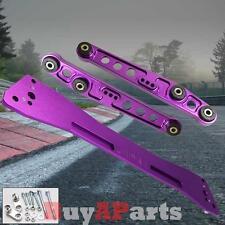 Purple JDM Rear Lower Control Arm Subframe Brace Tie Bar Kit Honda Civic 92-95