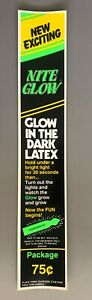 vtg condom machine decal vending novelty NOS water transfer Glow Dark 75 cents