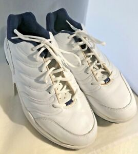 Vtg Rare Nike Golf Air Shoes- Size 11 cleats/spikes White /Blue Trim Leather Tie