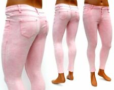 Damen Jeans in rosa stonewashed Stretchjeans Jeggings Übergrößen neu