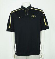 Nike Team Fit Dry Colorado Buffaloes Black Polo Shirt Mens Medium