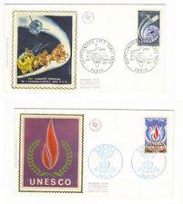 2 ENVELOPPES TIMBRE 1ER JOUR CONGRES PTT 1971 + UNESCO 1972 PORT A PRIX COUTANT