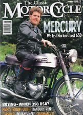Classic Motorcycle Aug 95  Norton Mercury   75cc Capriolo    BSA B31 / B40