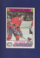 Larry Robinson AS 1977-78 O-PEE-CHEE OPC Hockey #30 (EXMT+) Montreal Canadiens