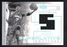 TERRELL BRANDON 2003/04 UD GLASS SUPERLATIVE SWATCHES RELIC GAME JERSEY SP $15