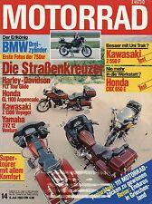 MOTO 14/83 1983 TEST CAGIVA ALA ROSSA HARLEY-DAVIDSON FLT Tour Glide XLV