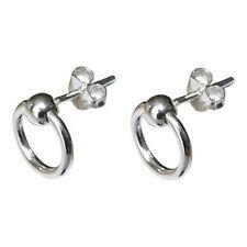 Solid 925 Sterling Silver Small Ball Stud Hoop Earrings Sleepers & FREE GIFT