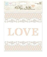 """Papermania 'Vintage Notes' 6"""" x 6"""" Filigree Cards and Envelopes"""