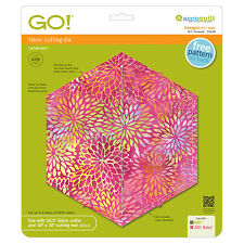 """AccuQuilt GO! Hexagon-4 1/2"""" Sides (4 1/4"""" Finished) Die 55438 Quilting Sewing"""
