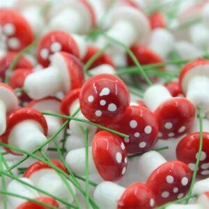 10Pcs 1.5cm Mini Foam Mushroom Fungus Artificial Plant Flowers Kids Painted