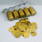 50 pcs Pack Lot Set of Gold Bitcoin BTC Model Style Design Poker Casino Chips