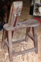 Primitive Handcut-Pegs Original Civil War Era Stitching Horse, Saddle Bench Nice