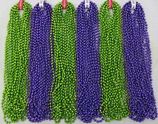 New ListingMardi Gras Beads Purple & Lime Green 6 Dozen School Parade Party 72 Necklaces
