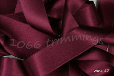 Satin Ribbon Double Sided Berisfords Red & Wine Shades Choice Widths 3501