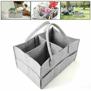 Portable Baby Diaper Organizer Caddy Felt Changing Storage Carrier Bag Best