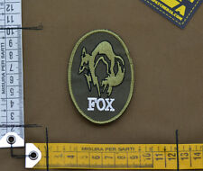 "Ricamata / Embroidered Patch Metal Gear Solid ""Fox"" with VELCRO® brand hook"