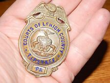 ANTIQUE PENNSYLVANIA PA COURT OF LEHIGH COUNTY TIPSTAFF CRIER BADGE HALLMARKED