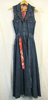 Rare vintage Desert Diva by Sherry Holt Western Denim Jumper Dress Size S Mint!