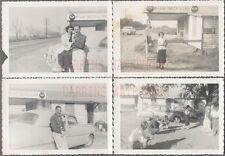Lot of 4 Vintage Car Photos 1951 Chevrolet McClure Roadside Coca Cola 720796