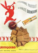 S- Publicité Advertising 1962 Biscuits Gringoire