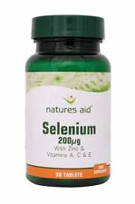 Natures Aid Selenium 200ug (with Zinc and vitamins A, C & E) 90 Tabs
