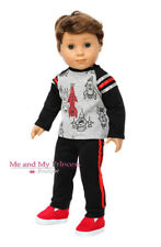 Space SHIRT + PANTS + SHOES Doll Clothes for 18 inch American Boy Doll
