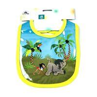 Disney Store The Jungle Book Bib Baby Green Blue Clear Vinyl Overlay