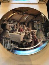 Dept 56 A Christmas Carol Plate.. The Cratchit Christmas Pudding