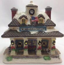 *Cobblestone Corner Windham Heights Station 2004 Christmas Village House Train