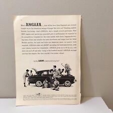 Vintage 1960's English Ford Anglia Little League Baseball Players Lion Mag. Ad